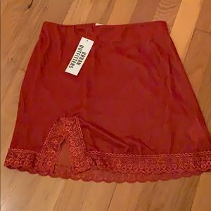 Urban Outfitters velvet and lace mini skirt